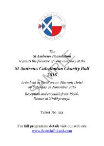 Caledonian Ball Ticket Sample