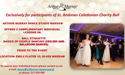 Complientary dance tuition for Ball ticket holders