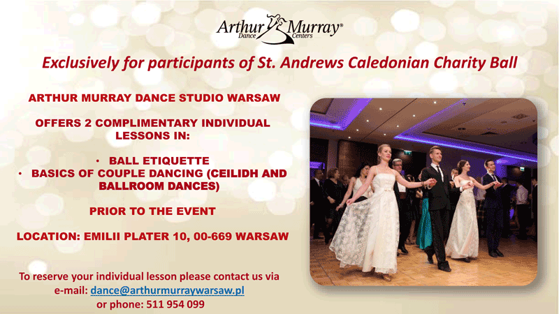 Complientary dance tuition offer for Charity Ball ticket holders