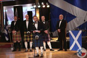 St Andrew's Foundation organisers - Iain Leyden, Sandy McMillan, Paul Gogolinski, Ben Bannatyne, Ray Bridgeford (L-R)