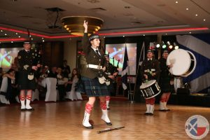 A traditional Highland sword dance performed by Częstochowa Pipes and Drums