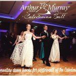 Arthur Murray Dancers lead a Polonaise in 2017