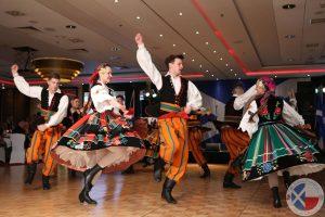 The folk dancers performed very energetically!